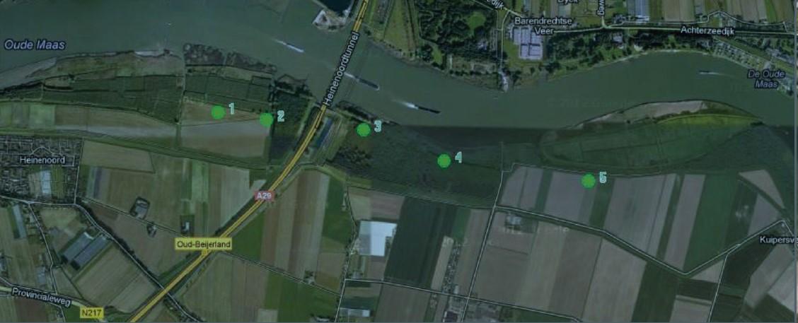 locaties windmolens Binnenmaas